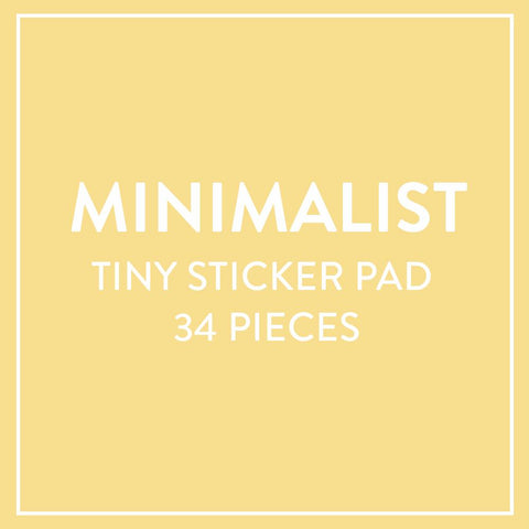Tiny Sticker Pad - Minimalist