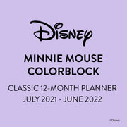 2021 Disney© Minnie Mouse Kindness Classic Colorblock Happy Planner - 12 Months