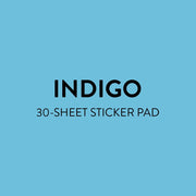 Value Pack Stickers - Indigo Tie Dye