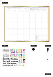 Monthly Dry Erase Board - 16 x 20