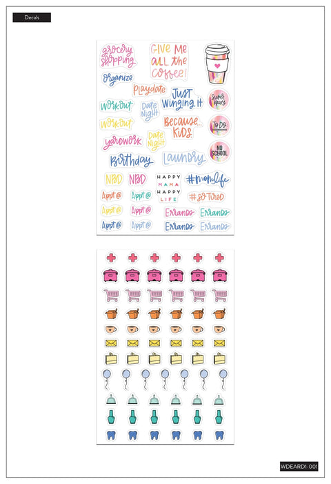 Dry Erase Decals - Mom Icons