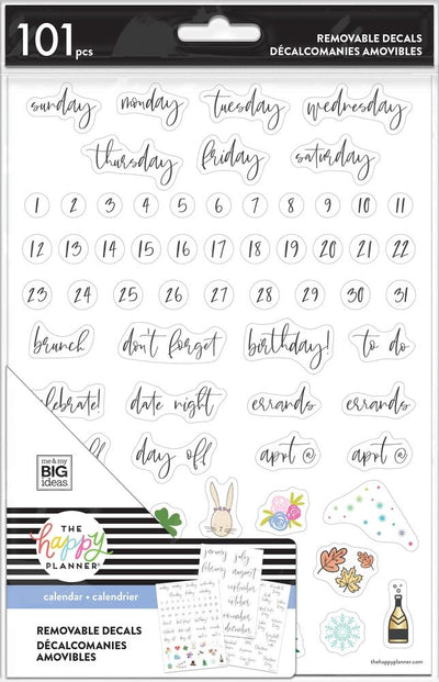 Dry Erase Decals - Seasonal Script