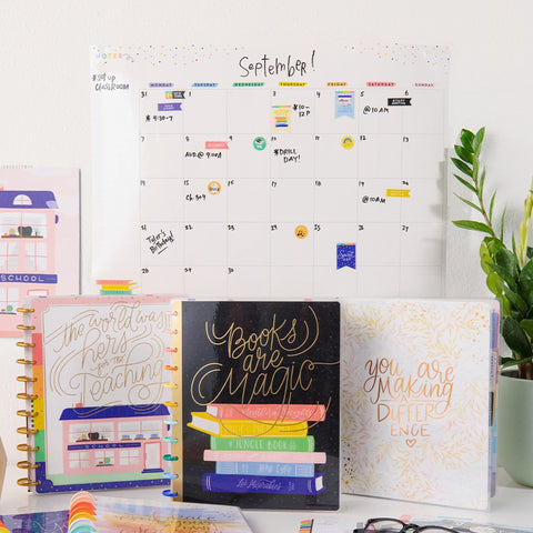 Rolled Monthly Dry Erase Calendar - Happy Plans