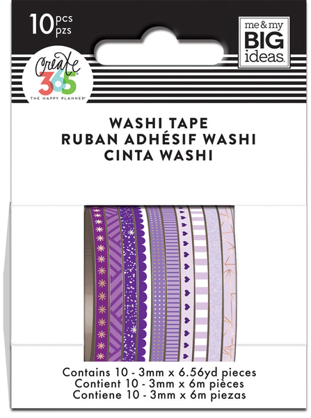 Purple Hues Skinny Washi Tape