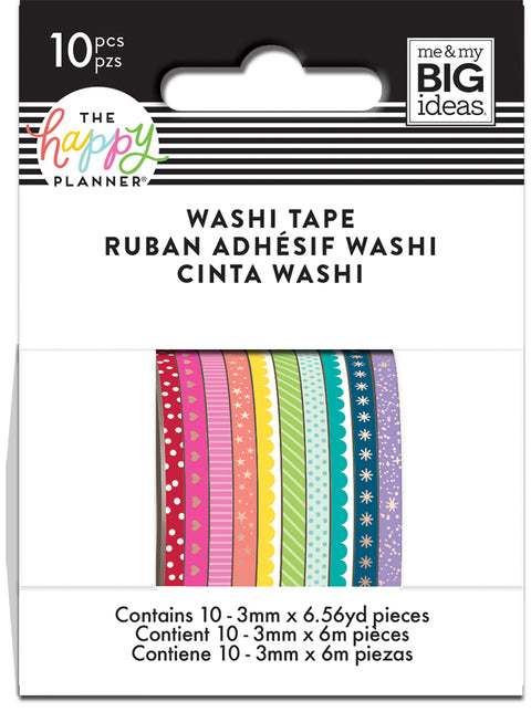 ROYGBIV(Rainbow) Skinny Washi Tape