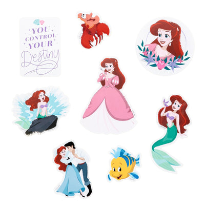 The Little Mermaid Die Cut Vinyl Decal Stickers - 8 Pack