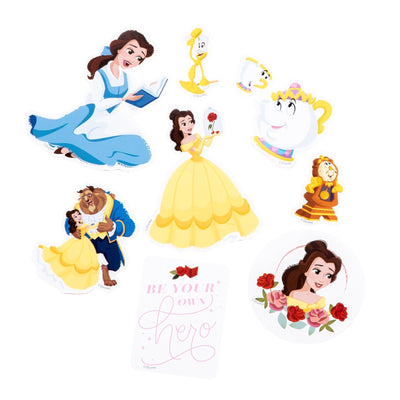 Beauty And The Beast Die Cut Vinyl Decal Stickers - 8 Pack