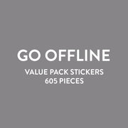 Value Pack Stickers - Go Offline Digital Detox