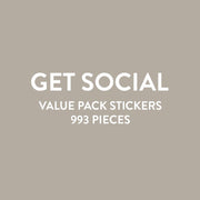 Value Pack Stickers - Get Social