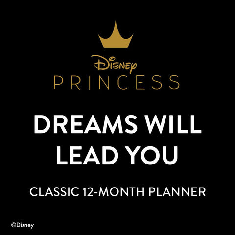 Undated Disney © Princess Dreams Will Lead You Classic Horizontal Happy Planner - 12 Months