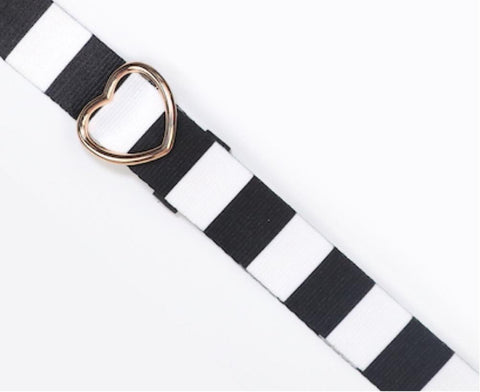 Black & White Striped Planner Purse Strap