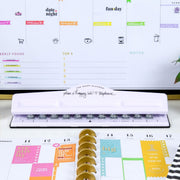The Happy Planner® BIG Plan A Happy Life Punch - White