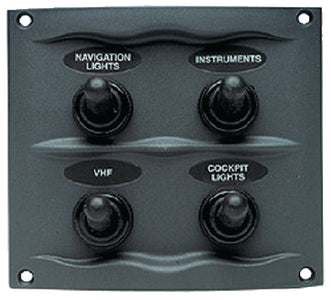 BEP Marine 4 Switch Panel Splash Proof: #900-4WP