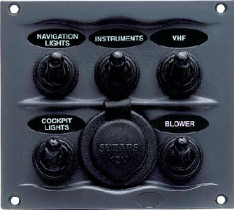 BEP Marine 5 Switch Panel Splash Proof: #900-5WPS