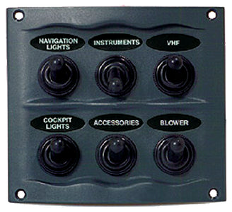 BEP Marine 6 Switch Panel Splash Proof: #900-6WP