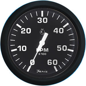 Faria Chesapeake Euro Black Tachometer #:FAR 32804