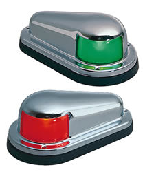 Perko Side Lights Red/Green Set #:PER 0915DP0CHR