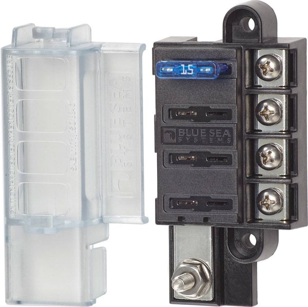 Blue Sea 5045 4-gang Fuse Block St Ato-atc With Cover
