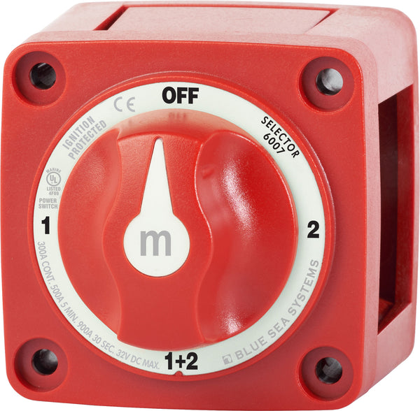 Blue Sea M-series Battery Switch On-off-on-both With Knob
