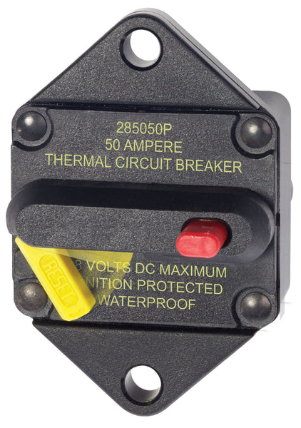 Blue Sea 285-series 50 Amp Circuit Breaker Panel Mount