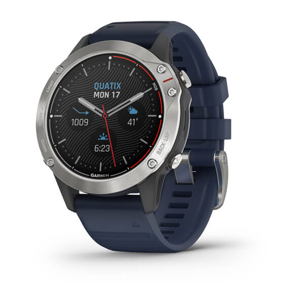 Garmin Quatix 6 Marine Gps Smartwatch Gray With Captain Blue Band