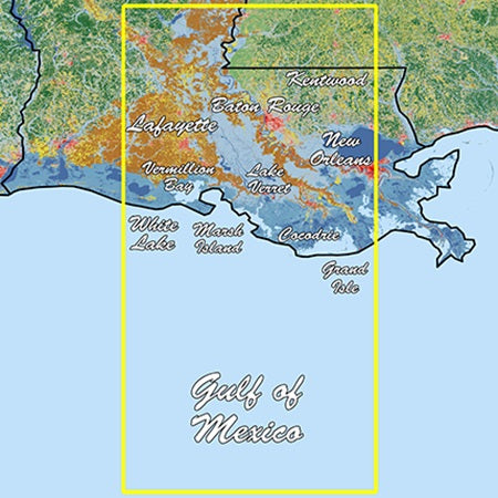 Garmin Louisiana Central Standard Mapping Professional