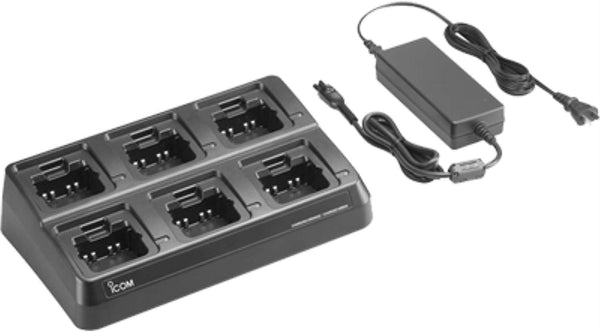 Icom 6-gang Charger With Usa Ac Adapter