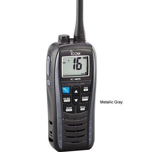 Icom M25 Floating Handheld Vhf Metalic Gray 5 Watts