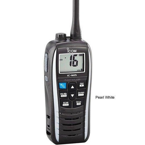 Icom M25 Floating Handheld Vhf Pearl White 5 Watts