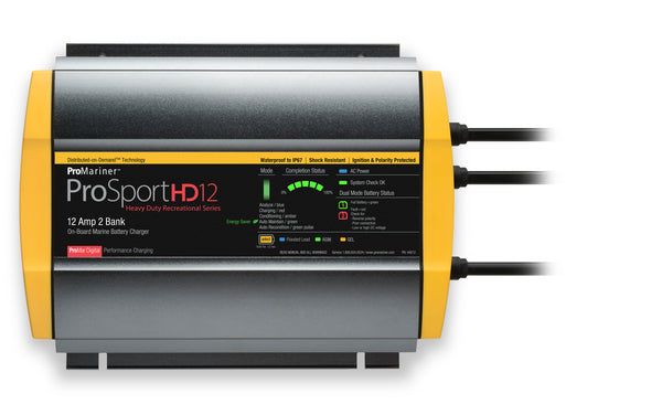 Promariner Prosport Hd 12 Gen4 12 Amp Battery Charger 12-24v 2 Bank 120v Input