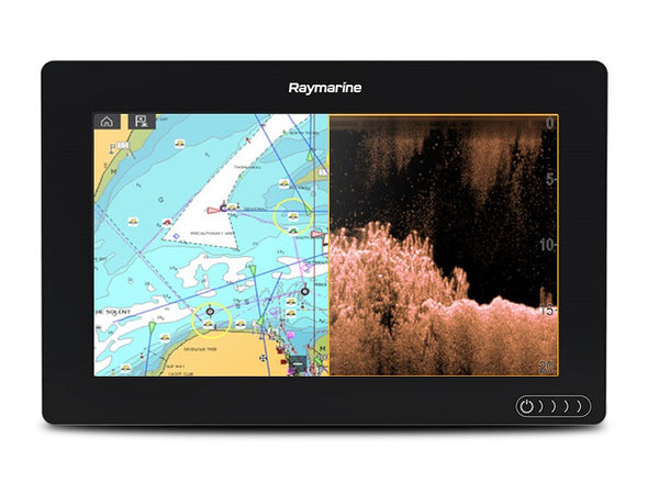 "Raymarine Axiom 9 Rv 9"""" Mfd Cpt-100dvs Transom Transducer Lighthouse Coastal Vector"