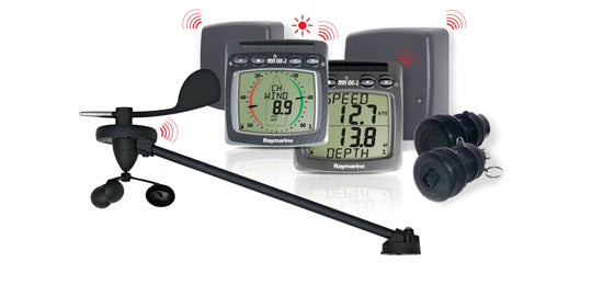 Raymarine Micronet Wireless Depth-speed-wind Nmea System