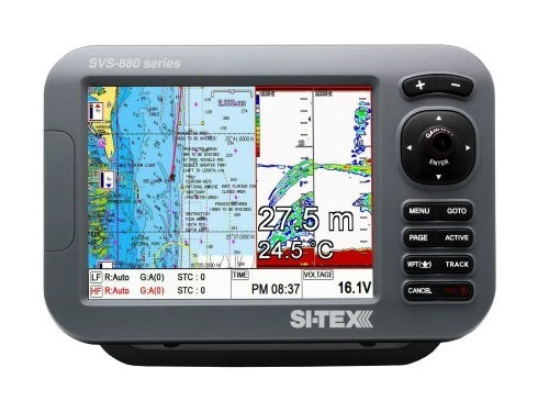 "Sitex Svs-880c 8"""" Chartplotte With External Antenna"
