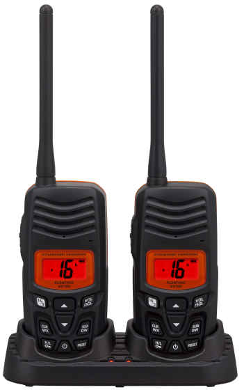 Standard Hx100 Hand Held Vhf Twin Pack Of Radios