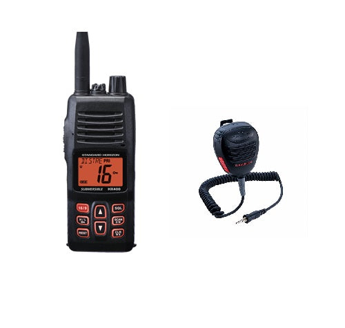 Standard Hx400 5w Handheld Vhf With Cmp460 Speaker Microphone