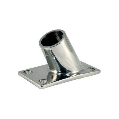 Marpac Cast Stainless Steel Rail Fittings - 60 degree Rectangular Bases