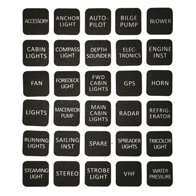 Marpac Label Kit for Lighted Panels