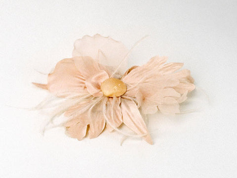 PeachSea Shell- Hair Clip
