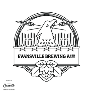 Modern Evansville Brewing Association Tee - Forest Green