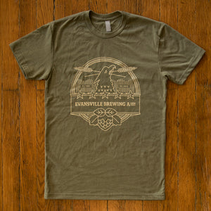 Modern Evansville Brewing Association Shirt - Military Green