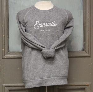 Made in Evansville, Indiana Gray Sweatshirt
