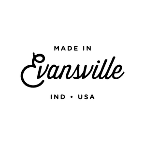 Made in Evansville, Indiana Script Tee - Red
