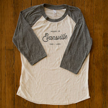 Load image into Gallery viewer, Evansville, Indiana Baseball Tee - White