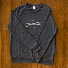 Load image into Gallery viewer, Made in Evansville, Indiana Navy Sweatshirt