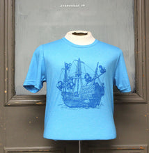 Load image into Gallery viewer, Monkey Boat Shirt - Blue