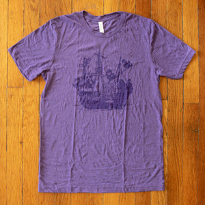 Monkey Boat Tee - Purple