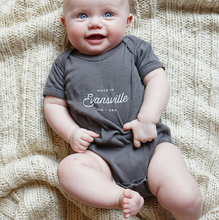 Load image into Gallery viewer, Made in Evansville, Indiana Onesie