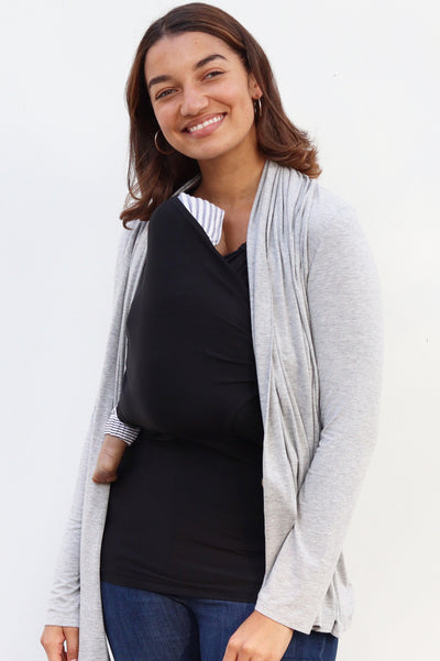 Nursing Cardigan - Heather Grey