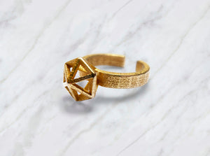 Gold Stereodiamond Ring 3d printed Gold Stereodiamond 1