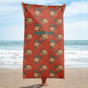 Serviette Lion Safari Wax